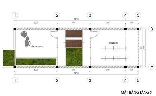 Không gian nội thất tầng 5
