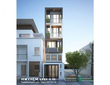 mặt tiền nhà phố 5 tầng 70m2