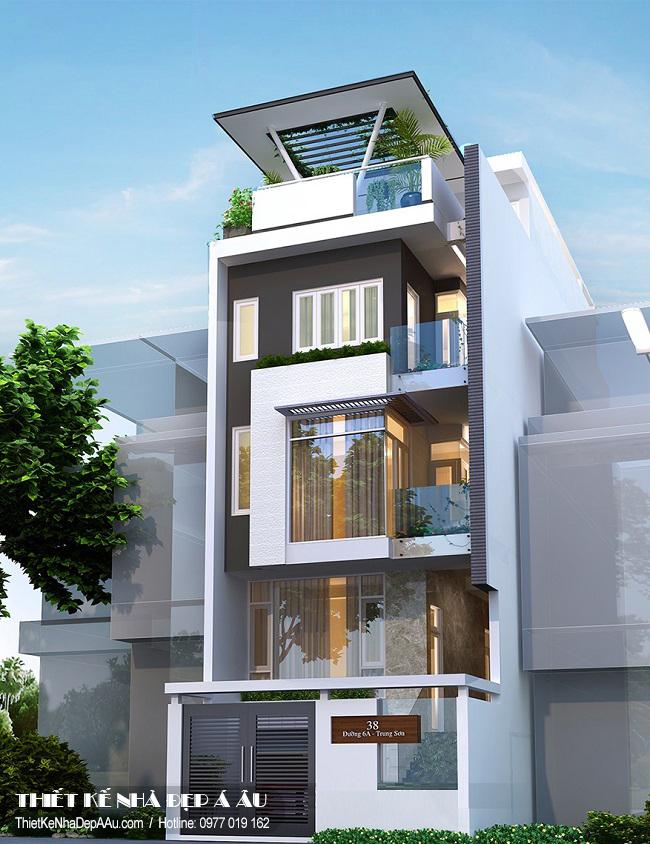 Nha pho 6 tầng đẹp phù hợp với kết hợp kinh doanh