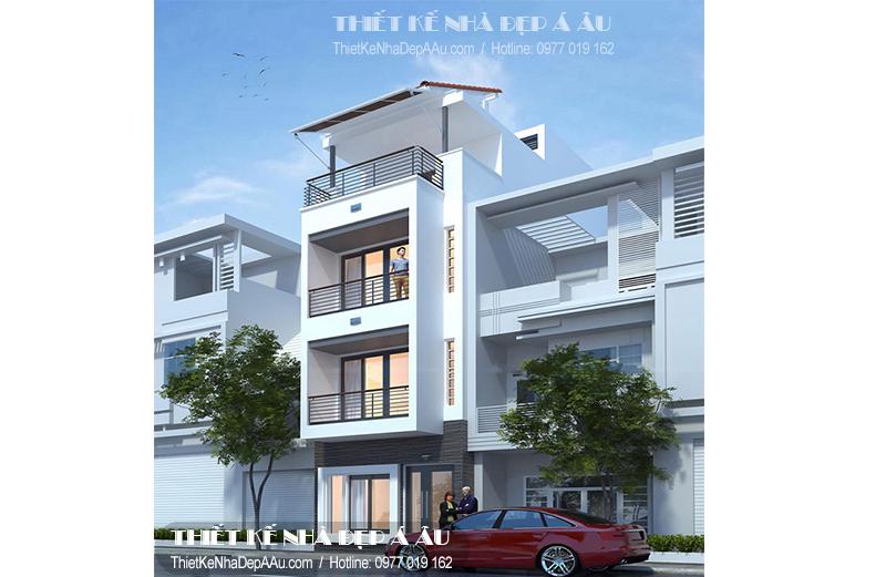 Tư vấn lên phương án thiết kế cho mẫu nhà phố 3 tầng 1 tum