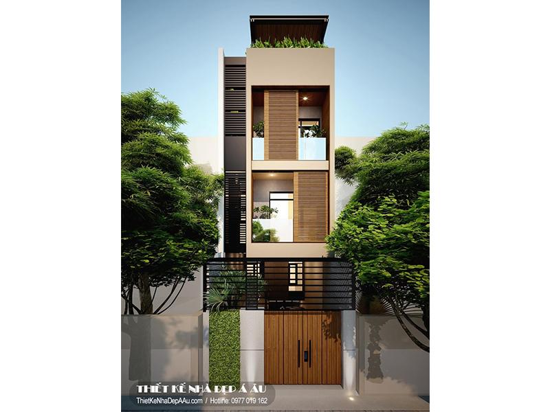 Hình ảnh nhà phố 4 tầng 4x13