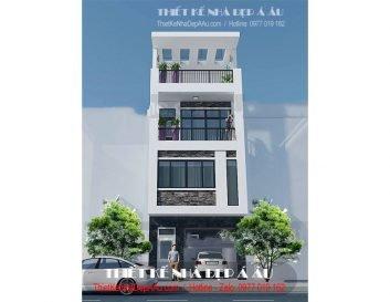 Nhà phố 4 tầng mặt tiền 5m