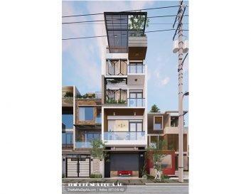 Mẫu nhà phố 5 tầng hiện đại