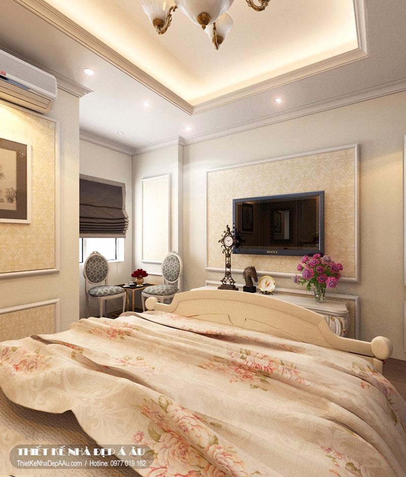 phòng ngủ đẹp cho biệt thự tân cổ điển