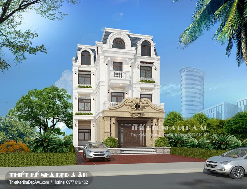 Thiết kế mẫu biệt thự 3 tầng tân cổ điển 250m2