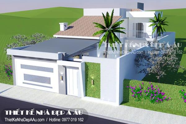 thiết kế nhà mái dốc đẹp