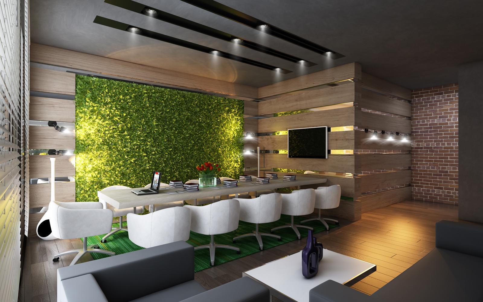 Thiết kế phòng làm việc có không gian xanh