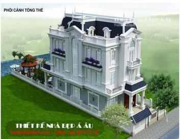 ý tưởng thiết kế biệt thự 3 tầng tân cổ điển 250m2