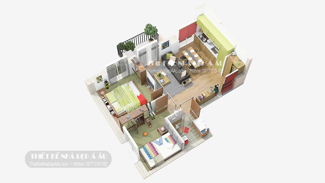 hình ảnh mặt bằng công năng thiết kế nội thất chung cư cao cấp