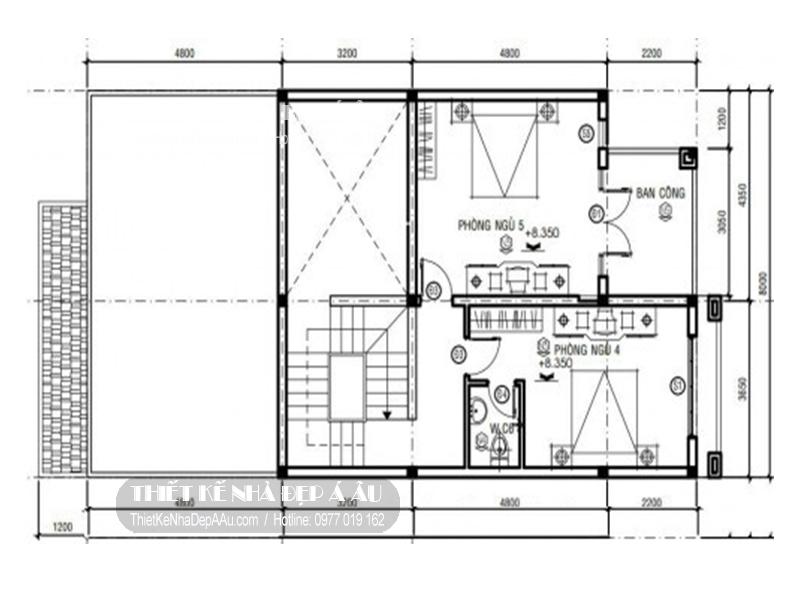 Xin bản vẽ mặt bằng nhà phố 3 tầng