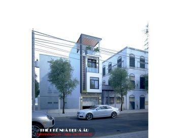 Mẫu nhà phố 3 tầng 1 tum mặt tiền 3m