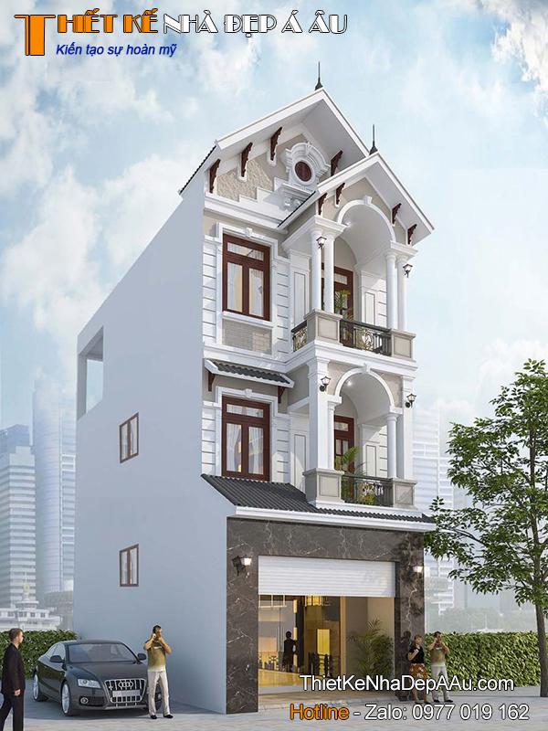 Tư vấn thiết kế nhà phố 3 tầng tân cổ điển