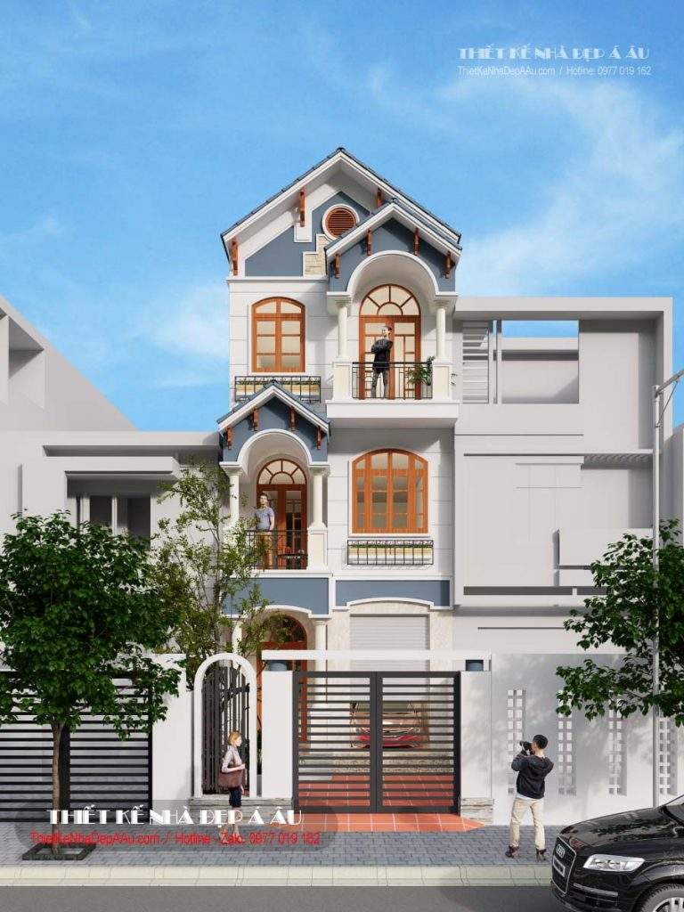 Phương án phối cảnh nhà phố 3 tầng mặt tiền 5m