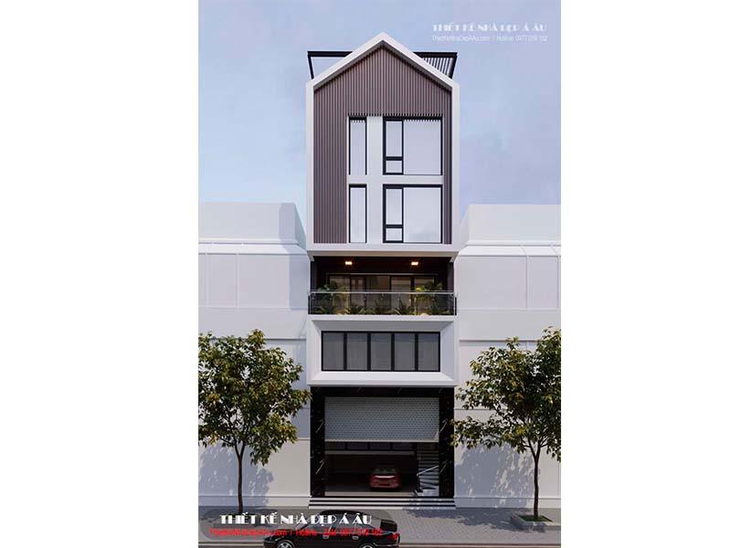 Thiết kế nhà phố 5 tầng mặt tiền 7m