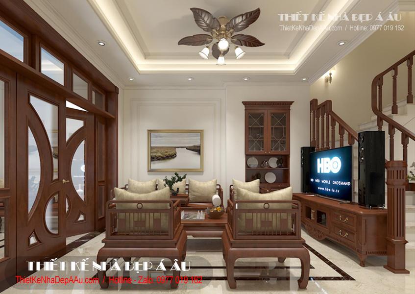 Cách bố trí nội thất bên trong phòng khách.