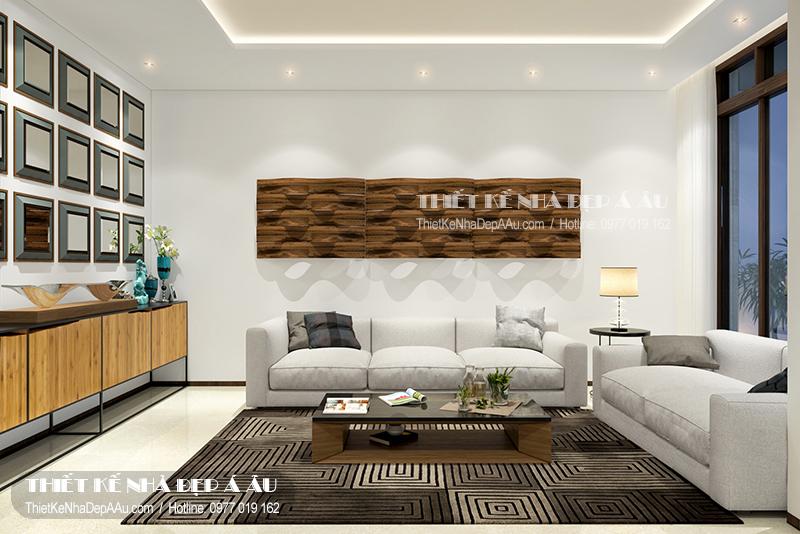 Phòng khách đẹp luôn dễ dàng tạo điểm cộng với bất kỳ ai lần đầu vào ngôi nhà
