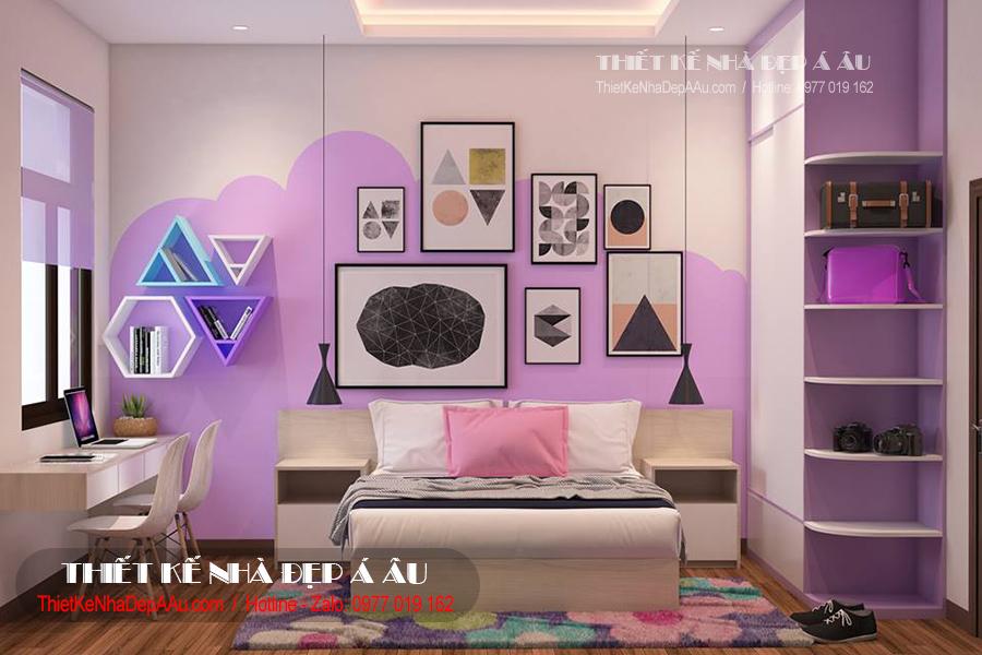 phòng ngủ lãng mạn cho con gái