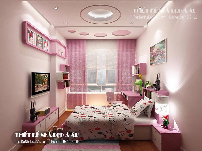Bài trí nội thất phòng ngủ cho con gái