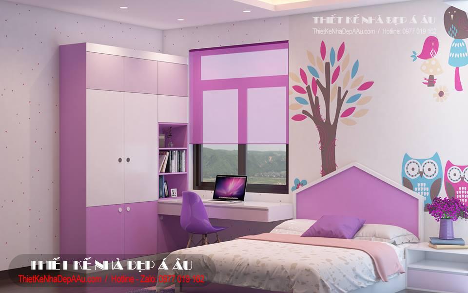 Cách lựa chọn nội thất phòng ngủ bé gái