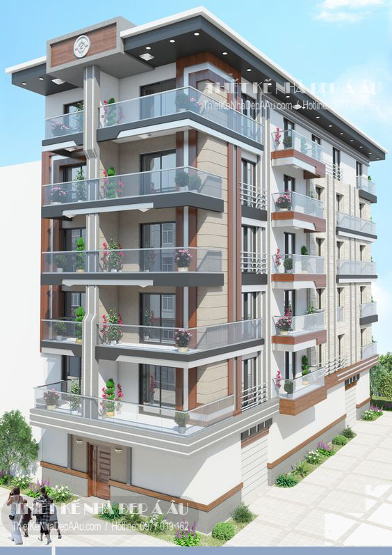 Thiết kế chung cư mini 6 tầng
