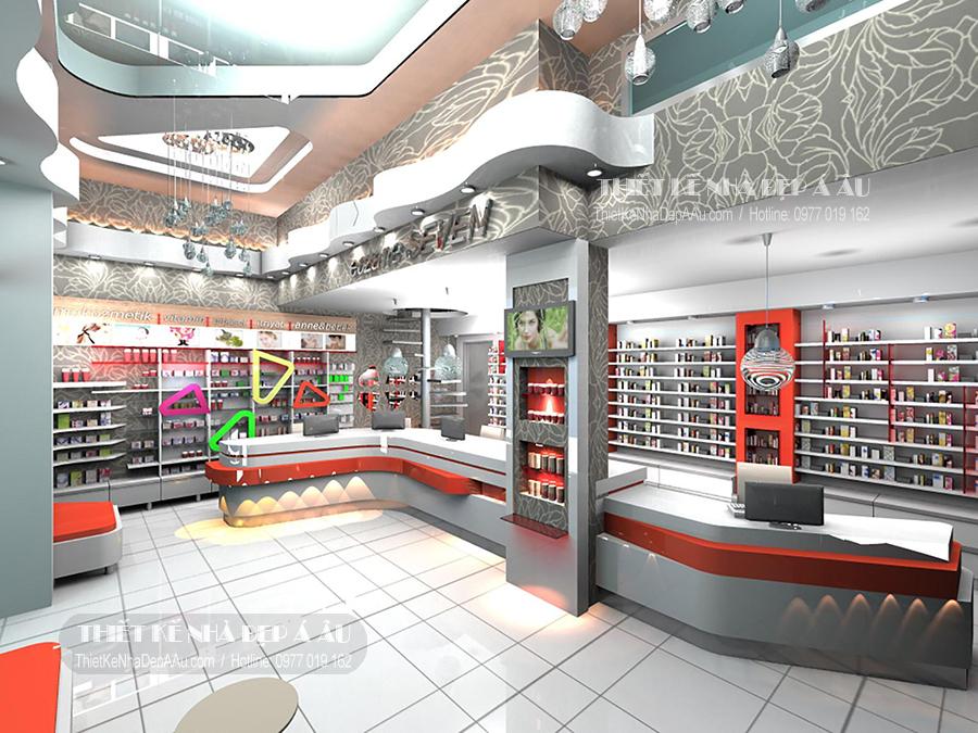 bản vẽ thiết kế siêu thị mini