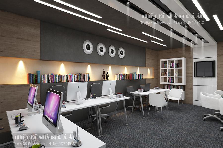 mẫu thiết kế nội thất phòng làm việc nhân viên