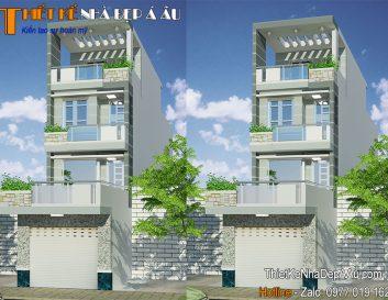 Tư vấn thiết kế nhà phố lệch tầng theo phong cách hiện đại