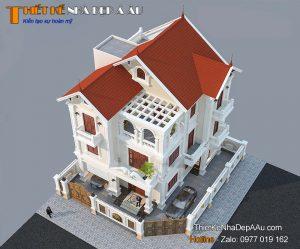 Thiết kế biệt thự 3 tầng 2 mặt tiền