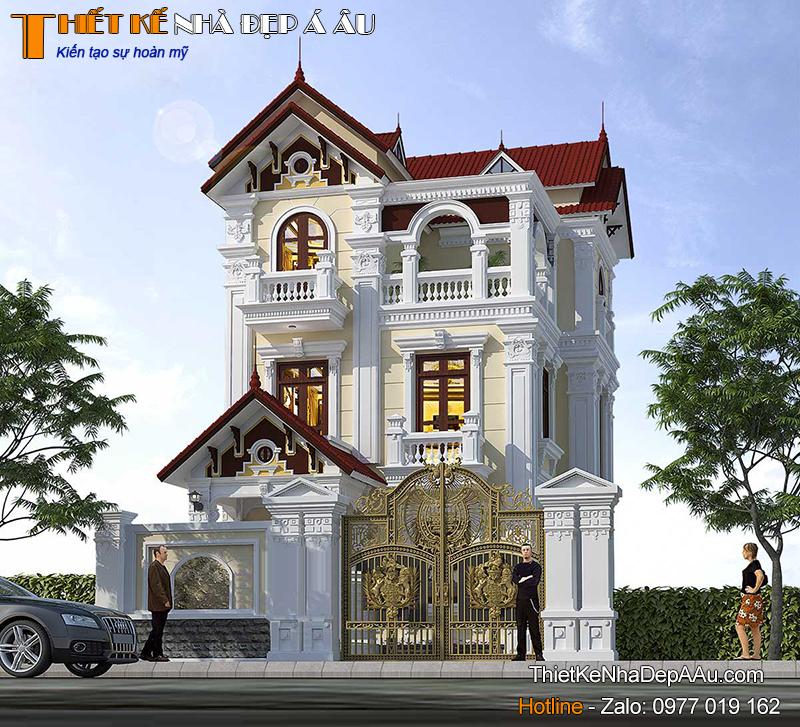 Phương án thiết kế biệt thự 3 tầng tân cổ điển đẹp