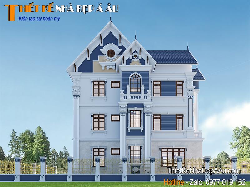 Mẫu thiết kế biệt thự 3 tầng mái thái đẹp