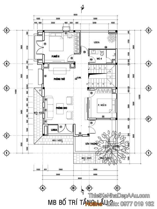 Lên phương án thiết kế công năng tầng 3