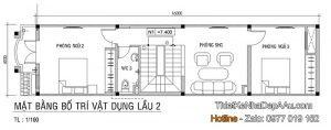 Lên phương án thiết kế mặt bằng tầng 3 cho mẫu nhà phố kết hợp kinh doanh