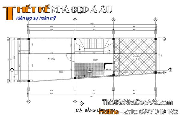 Phương án thiết kế mặt bằng tầng tum