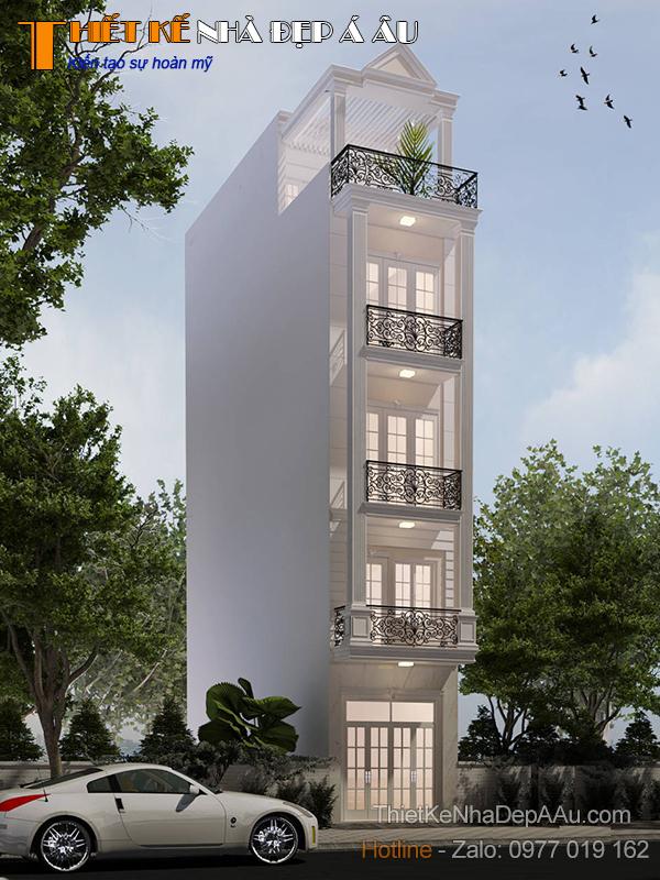 Thiết kế nhà phố 5 tầng 3x11