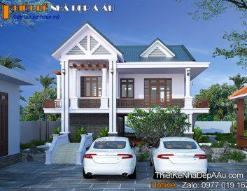 Thiết kế nhà 2 tầng mái thái 4 phòng ngủ