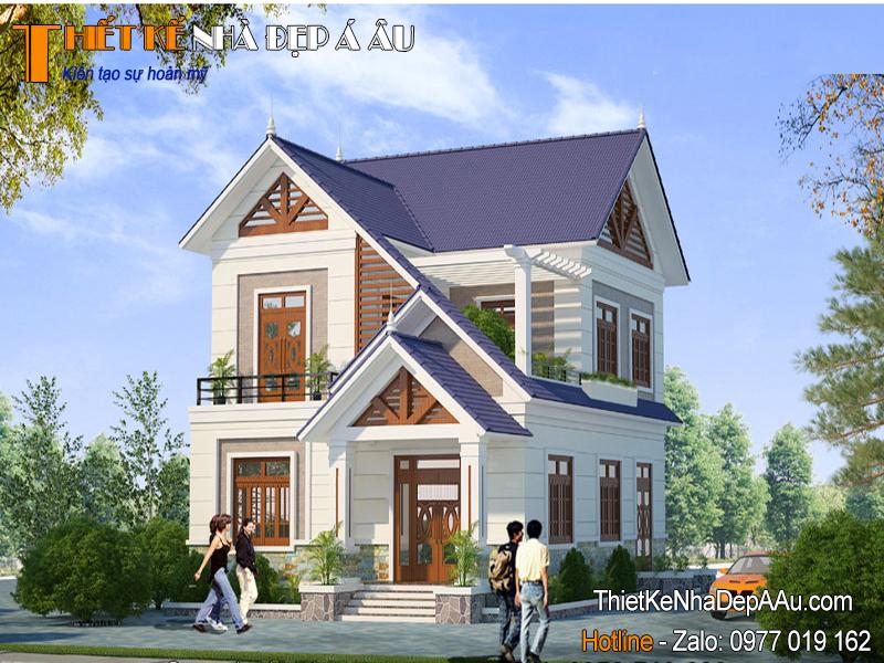 Lên phương án thiết kế nhà 2 tầng mặt tiền 8m