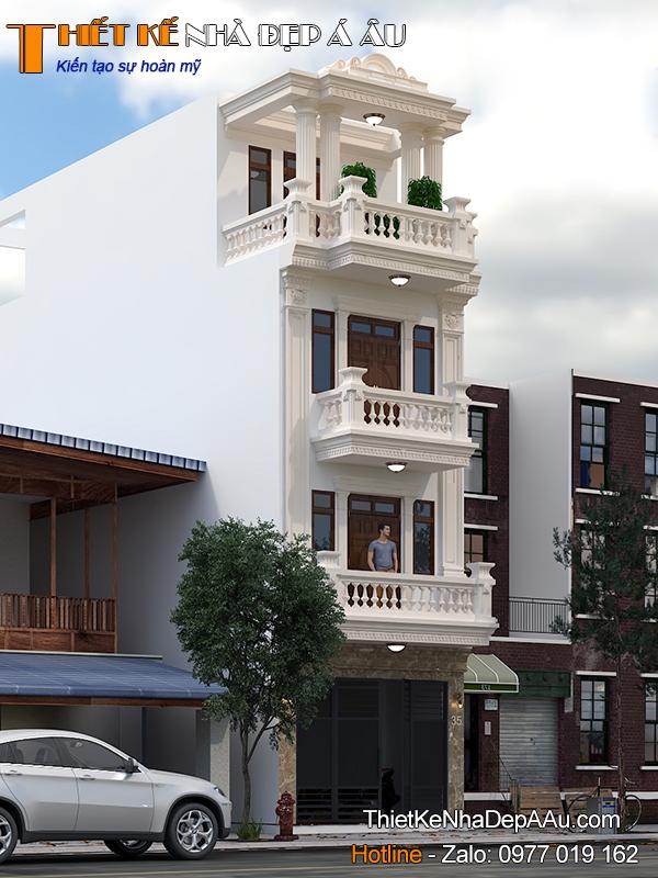 Tư vấn thiết kế nhà phố 4 tầng mặt tiền 5m