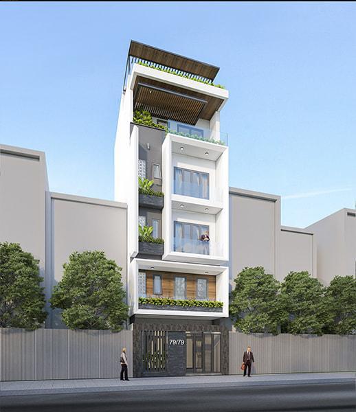 Mẫu nhà phố 3 tầng 1 tum 60m2
