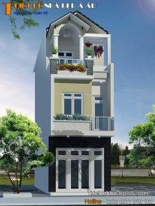 Lên phương án thiết kế nhà phố 3 tầng 3 phòng ngủ 4x1
