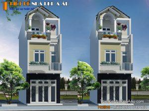 Tư vấn lên phương án thiết kế nhà phố 3 tầng có 3 phòng ngủ tiện nghi