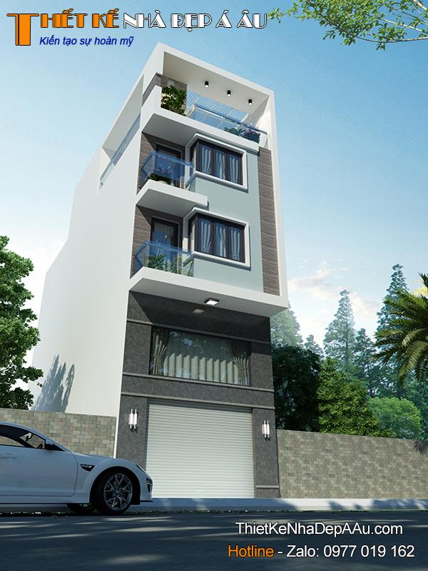 tổng quan nhà phố 3 tầng hiện đại 90m2
