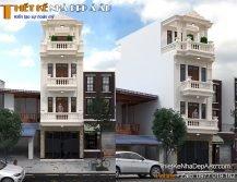 Nhà phố thiết kế theo phong cách tân cổ điển 4 tầng 1 tum