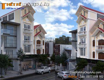 Bản thiết kế nhà phố 4 tầng tum 7x13m kết hợp kinh doanh