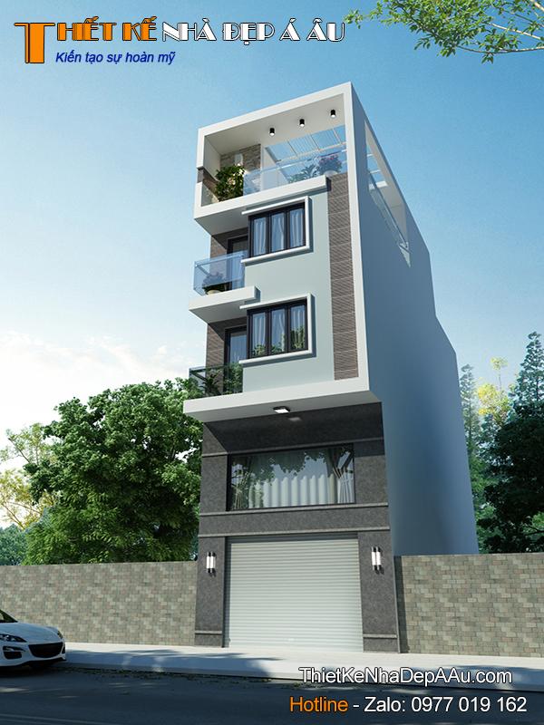 nhà phố 3 tầng hiện đại 90m2