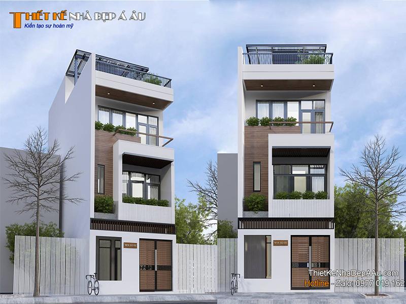 Nhà phố 3 tầng 1 tum