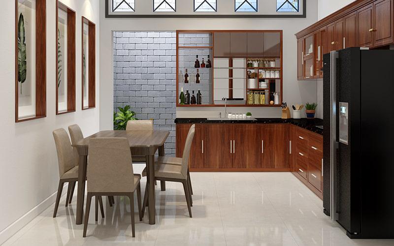 không gian nhà bếp nhỏ xinh