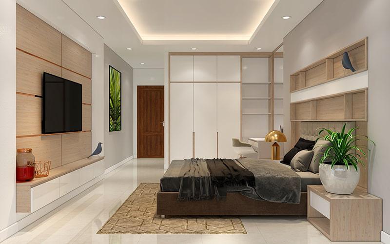 phòng ngủ nhà phố
