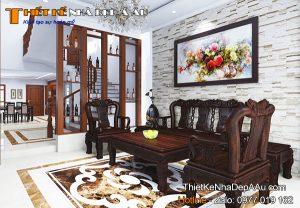 Phòng khách căn nhà phố 3 tầng mặt tiền 5m