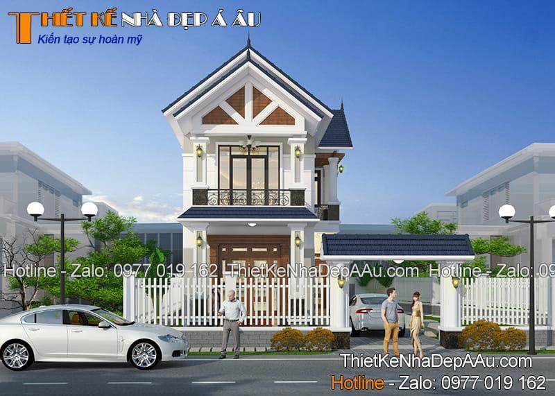 Công trình kiến trúc biệt thự 2 tầng đơn giản đẹp chi phí tối ưu