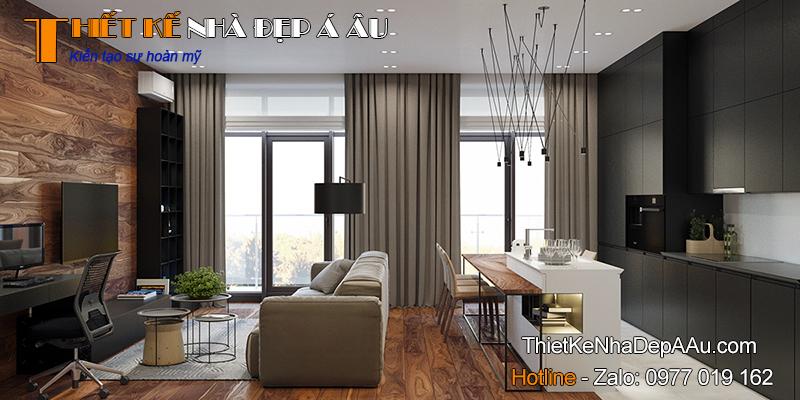 Phương án thiết kế nội thất chung cư 95m2
